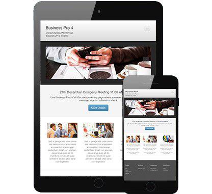 Business Pro 4 - Responsive Business WordPress Theme