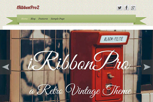 Vintage Retro WordPress Theme