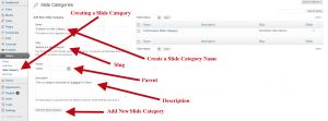 Creating Slide Category