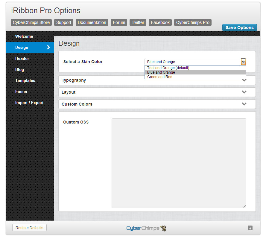 iRibbon Pro Design Options