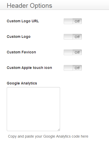 New Framework Header Options