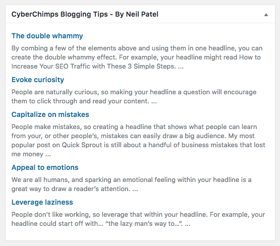 Blogging Tips By Neil Patel