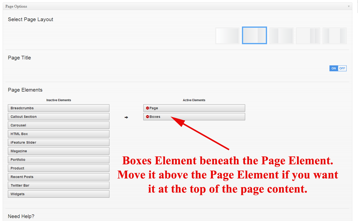 Activate Box Element in Page