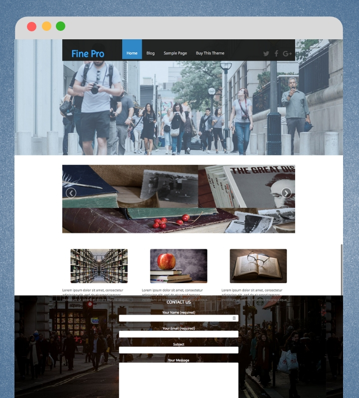 Fine Pro WordPress Theme