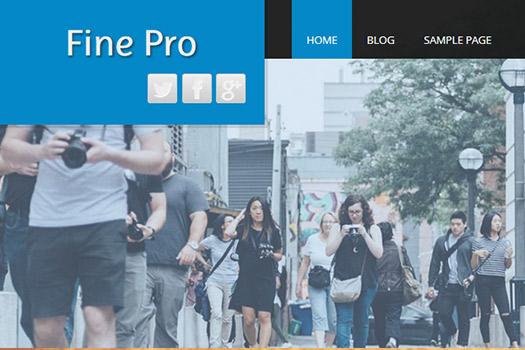 Full width banner WordPress Theme