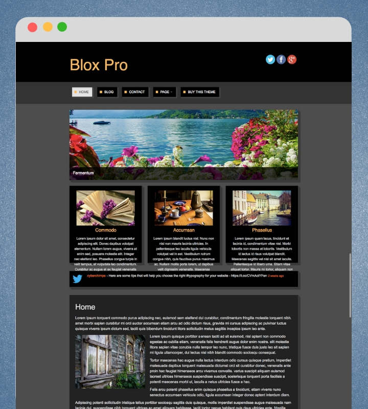 Blogging WordPress Theme
