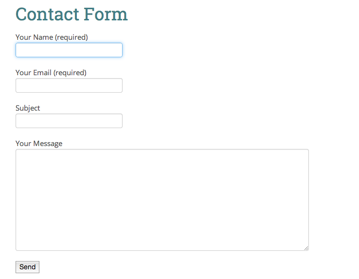 Contact forms nearly every site on the web can benefit from a contact form that allows visitors to send messages to the site owner for many sites this is their reason altavistaventures Choice Image