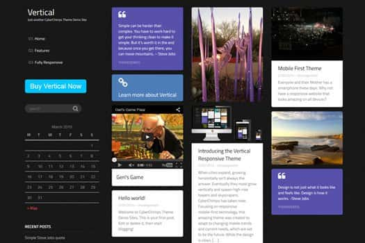 Vertical WordPress Theme