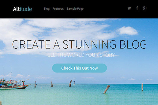 Altitude Blogging WordPress Theme