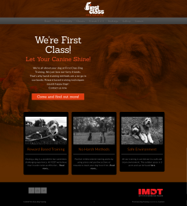 First Class Dog Training website