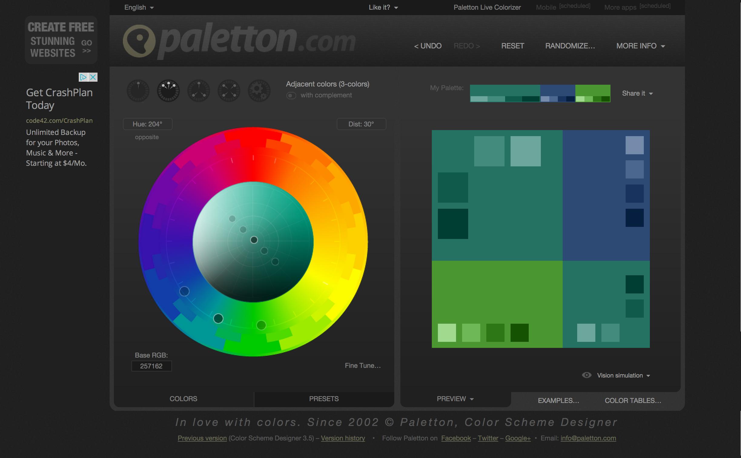 Paletton website