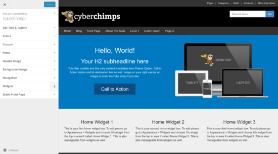 Pro Features Plugin From Cyberchimps