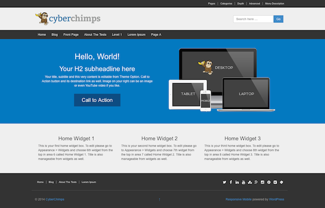 CyberChimps' Guide to Setting Up the Responsive II Theme