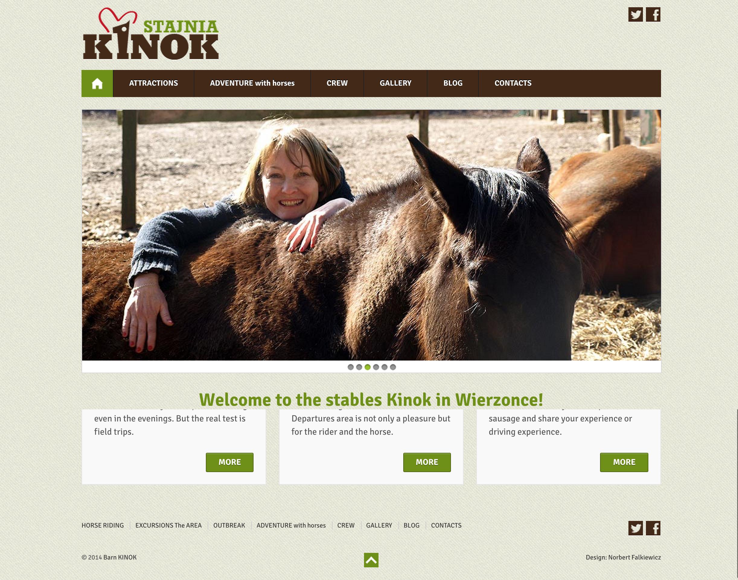 Kinok Stables website