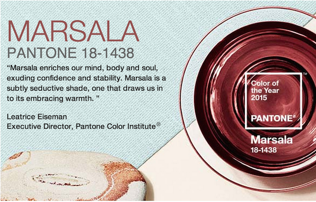 And the Color of the Year for 2015 Is…