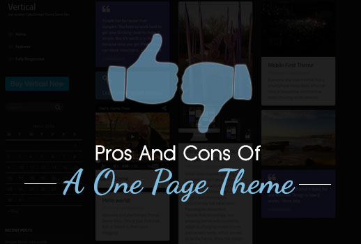 Pros And Cons Of A One Page Theme