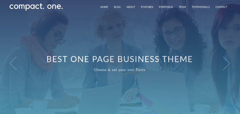 Compact One - Free One Page WP Theme