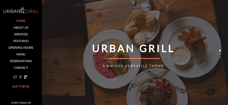 Urban Grill One Page WP Theme