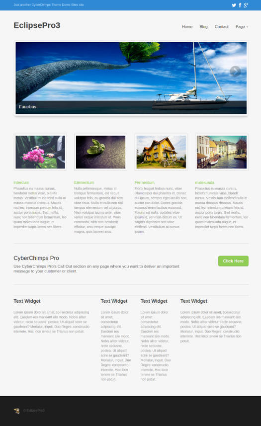 EclipsePro CyberChimps Responsive WordPress Theme