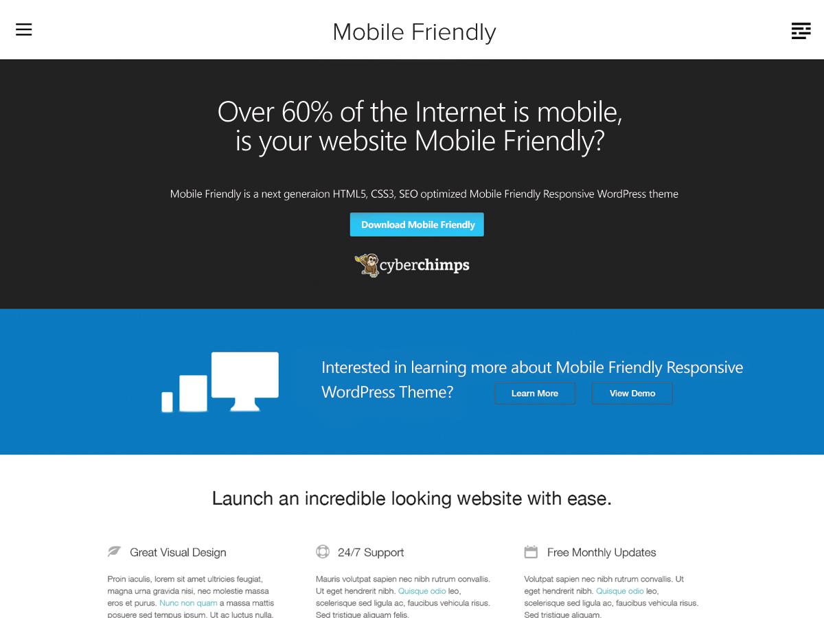 Mobile Friendly Theme