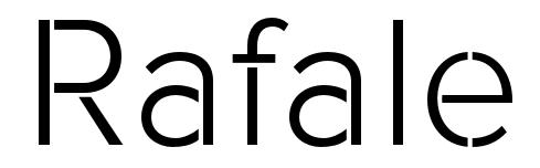 Rafale Free Font by Fontfabric