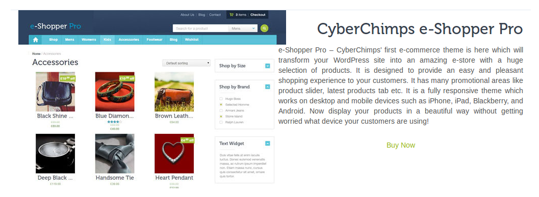 e-Shopper Pro - Blog Drag & Drop elements - Product Preview