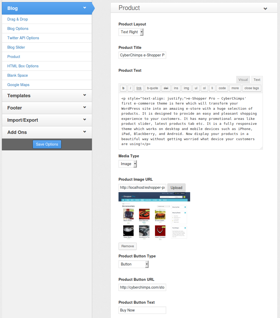 e-Shopper Pro - Blog Drag & Drop elements - Product