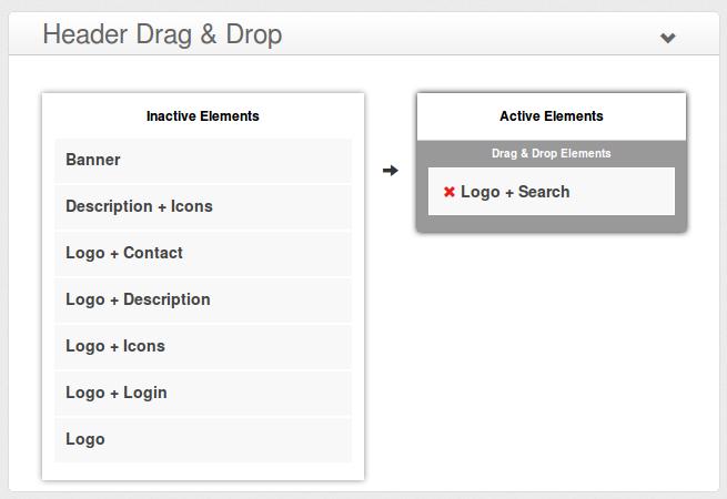 e-Shopper Pro - Header Drag & Drop elements