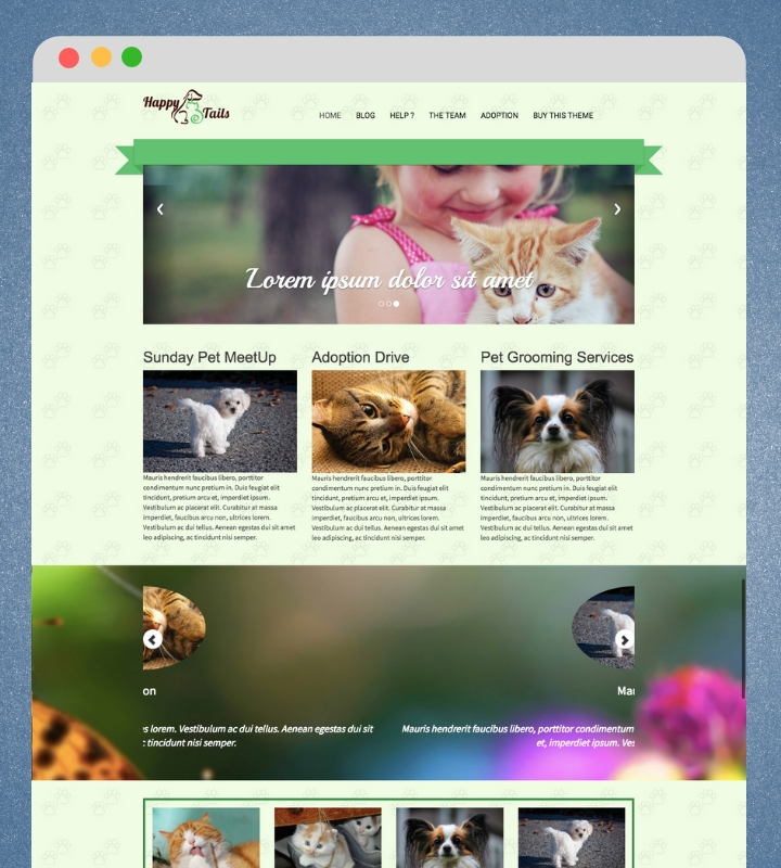 Happy Tails WP Theme