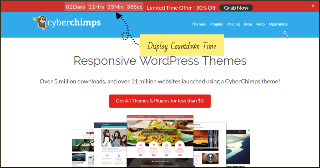 Add WordPress Promotional Bar to display your flash sales or limited time offers