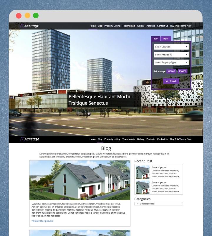 Acreage WordPress Theme