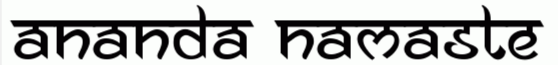 Ananda Namaste Free Font