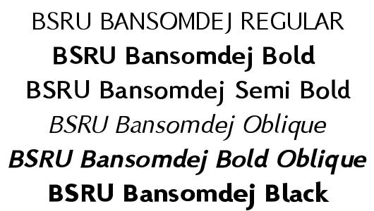 BSRU Bansomdej Font