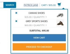 ShopFront - Minicart