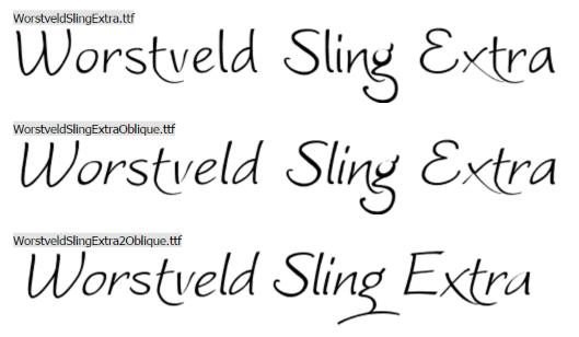 Worstveld Sling Extra font