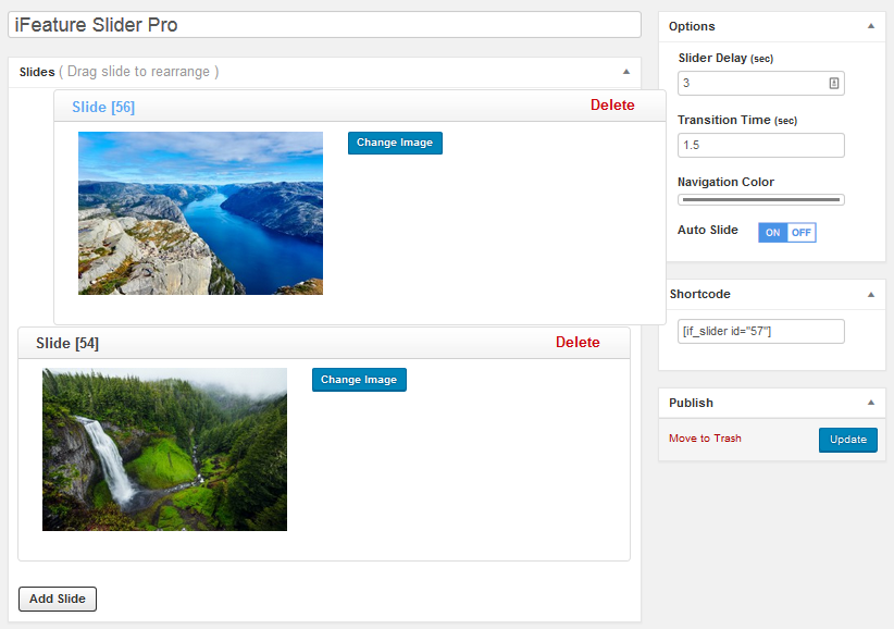 Create beautiful sliders with CyberChimps iFeature Slider
