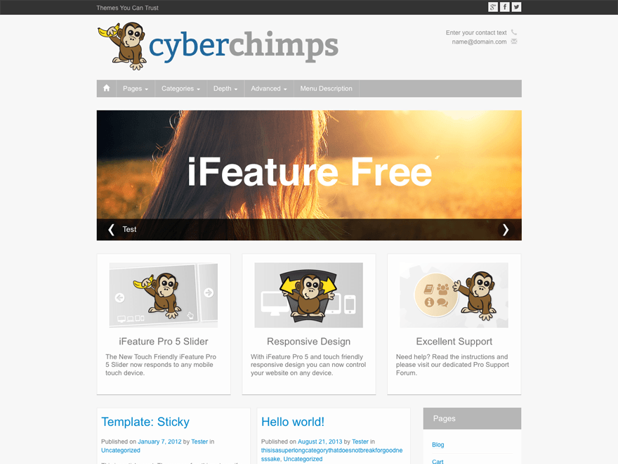 Free Theme with Responsive Design
