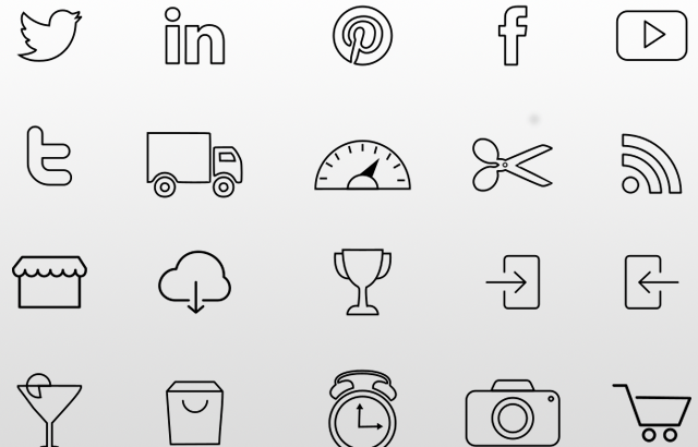 Get Free 35 Multi-Purpose Flat Line Icons