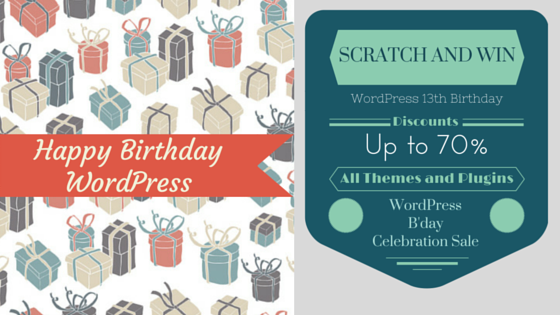 Happy Birthday WordPress ! Here's an Infographic we created for you