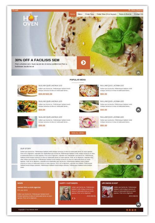 Online Order WordPress Theme
