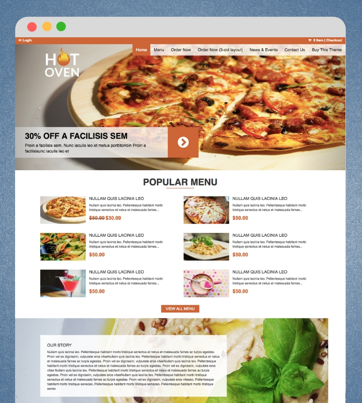 HotOven Food WordPress Theme