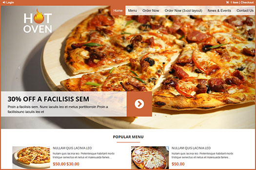 Hot Oven Restaurant WordPress Theme