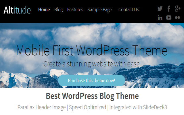 Altitude – A Simple WordPress Blogging Theme