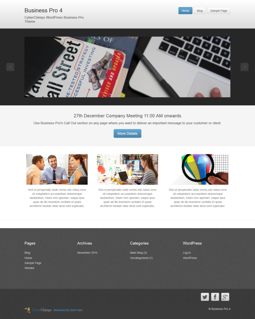 Business Pro by CyberChimps - Premium Business Theme for WordPress