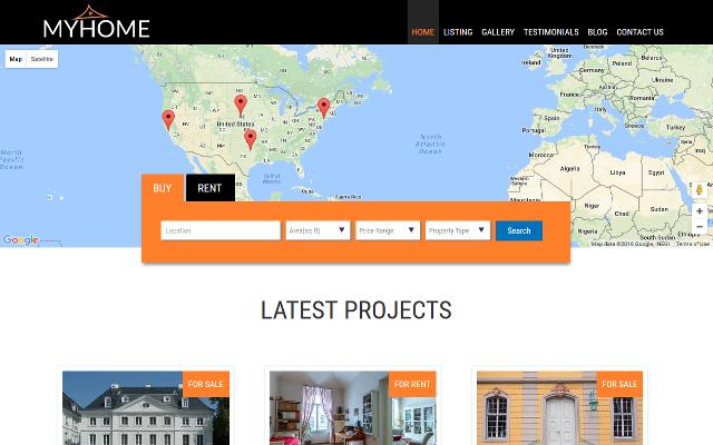 MyHome – A responsive real estate WordPress theme