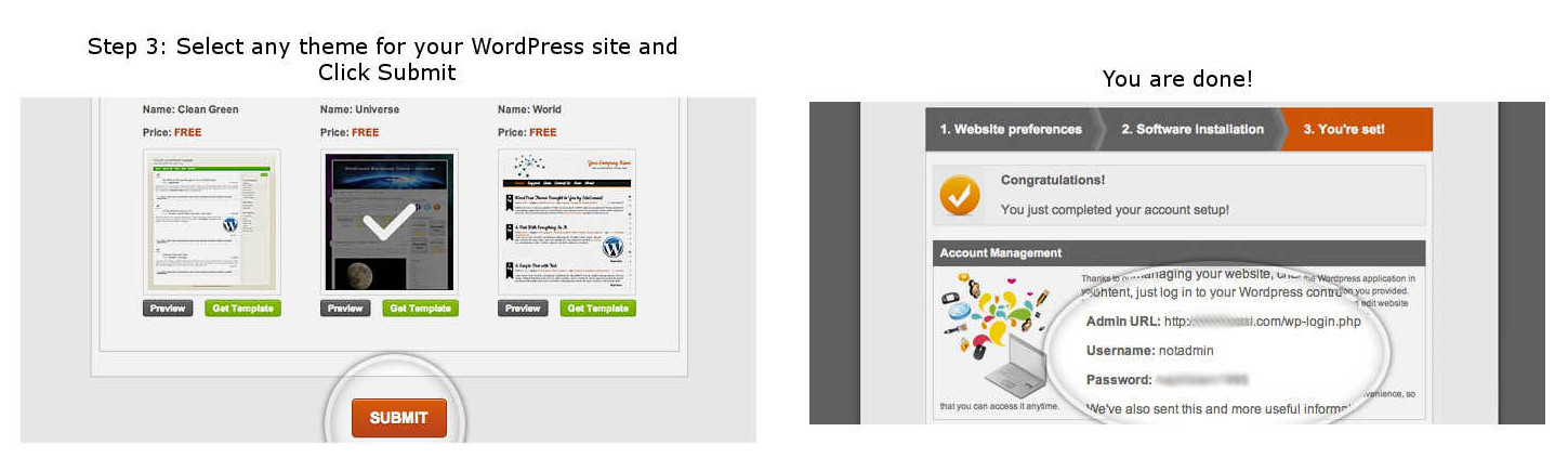 SiteGround Preinstalled WordPress 3