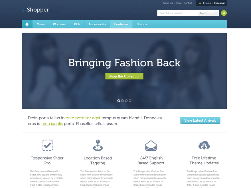e-Shopper Theme