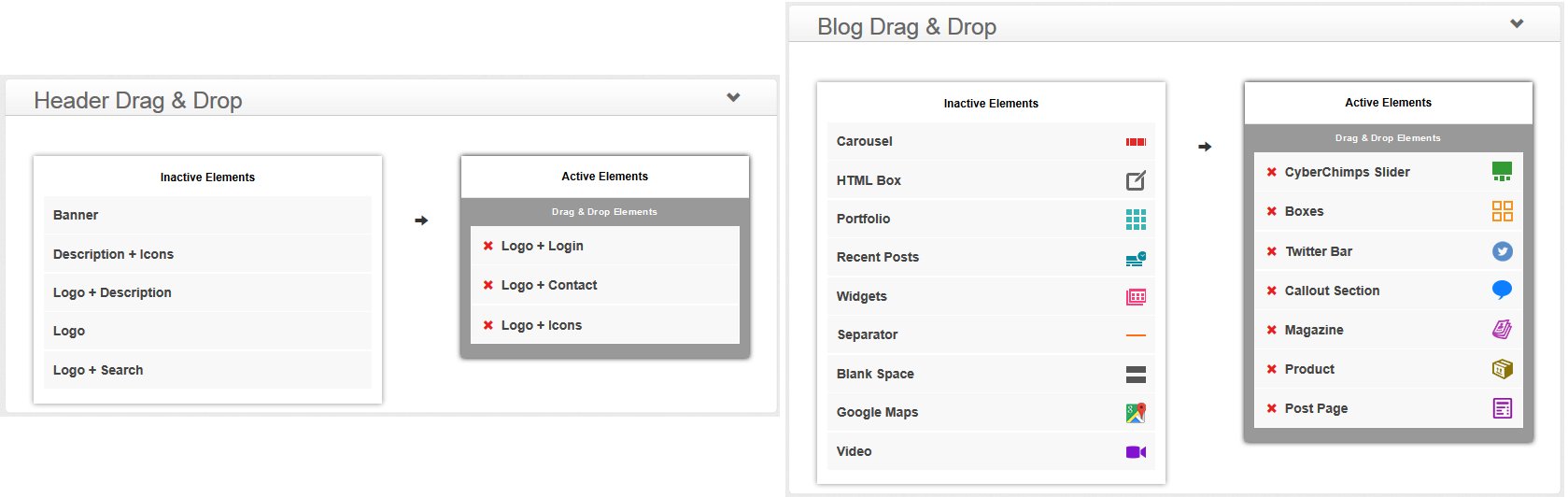 iFeature Pro - Drag & Drop Elements