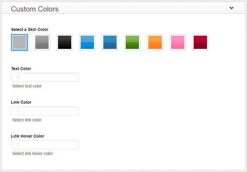 iFeature Pro - Theme Options - Custom Colors