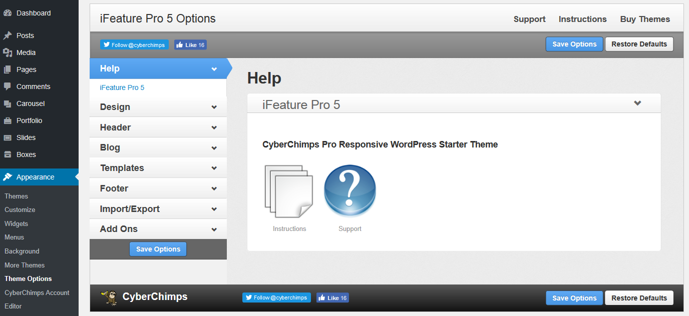 iFeature Pro - Theme Options